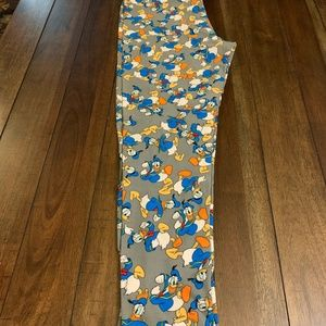 EUC Lularoe Disney Donald Duck Leggings